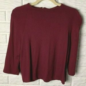 😊 Anthropologie W5 Crop Top Size Small Maroon